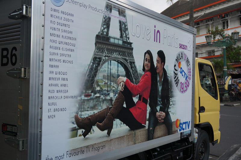 'Love in Paris' - TV crew's van