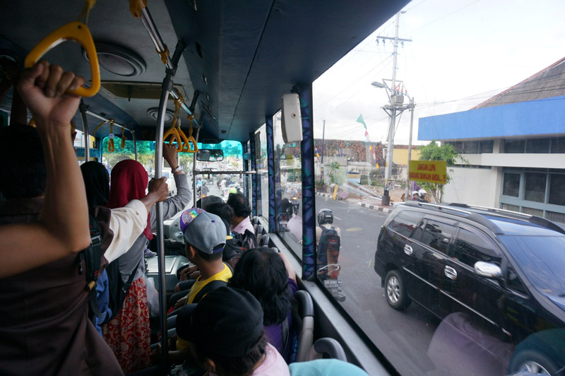 Public bus in Yogyakarta, Java, Indonesia